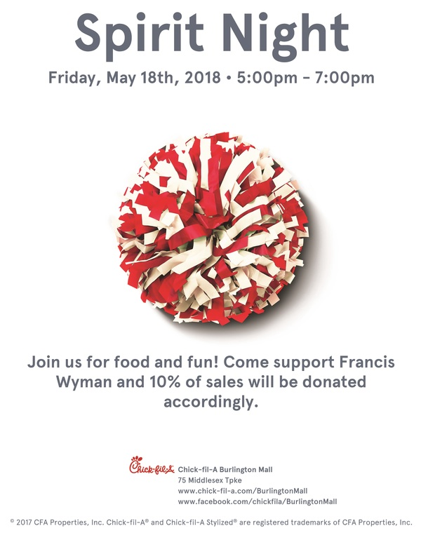 Francis Wyman Spirit Night